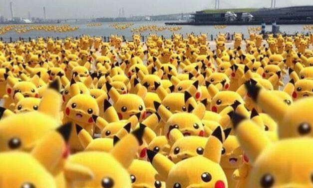 Pikachu Invades Yokohama's Red Brick Warehouse & Park