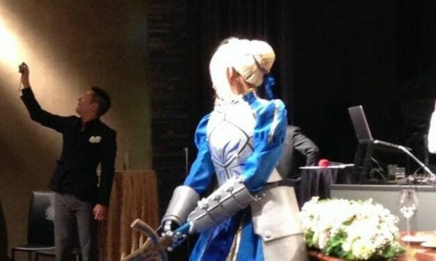 Newlyweds Host Cosplay Wedding Reception As Saber, Kamen Rider