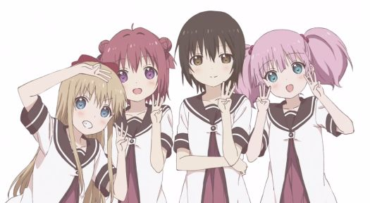 YuruYuri Season 3 Key Visual 001 - 20150310