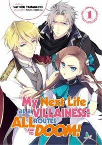 My Next Life as a Villainess All Routes Lead to Doom Novel Volume 1 Cover