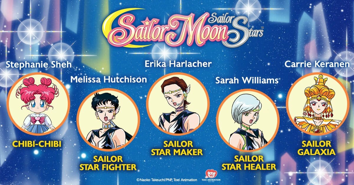 Sailor Moon Sailor Stars Dub Cast Visual