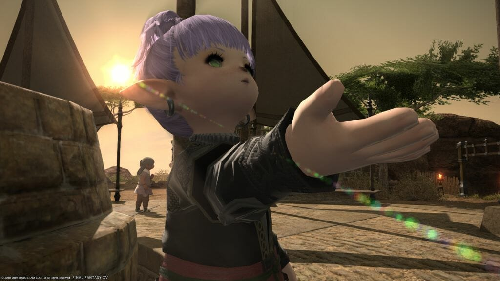 Side shot of Kikipu at the Siver Bazaar in Final Fantasy XIV