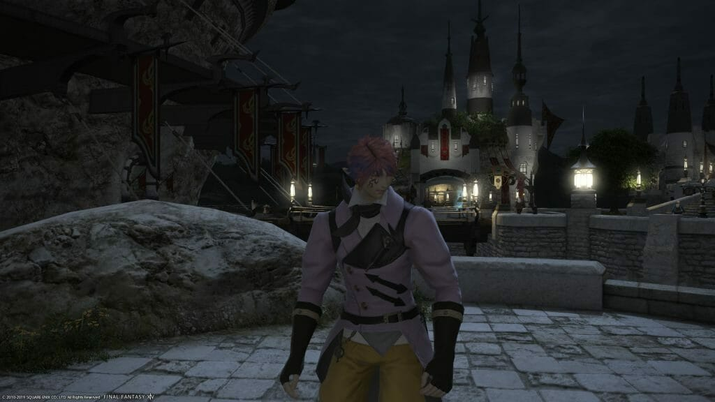 Jandelaine, the master Aesthestician in Final Fantasy XIV. appears flustered