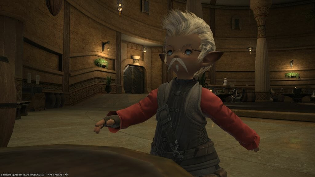 Papashan stands in The Quicksand in Final Fantasy XIV