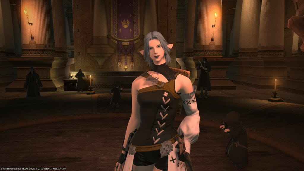 Skye Grandeterre: a Duskwight Elezen from Final Fantasy XIV who resides on the Zalera server.