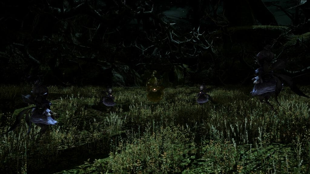 Claxio the Sylph, surrounded by Tempered Sylphs in Final Fantasy XIV