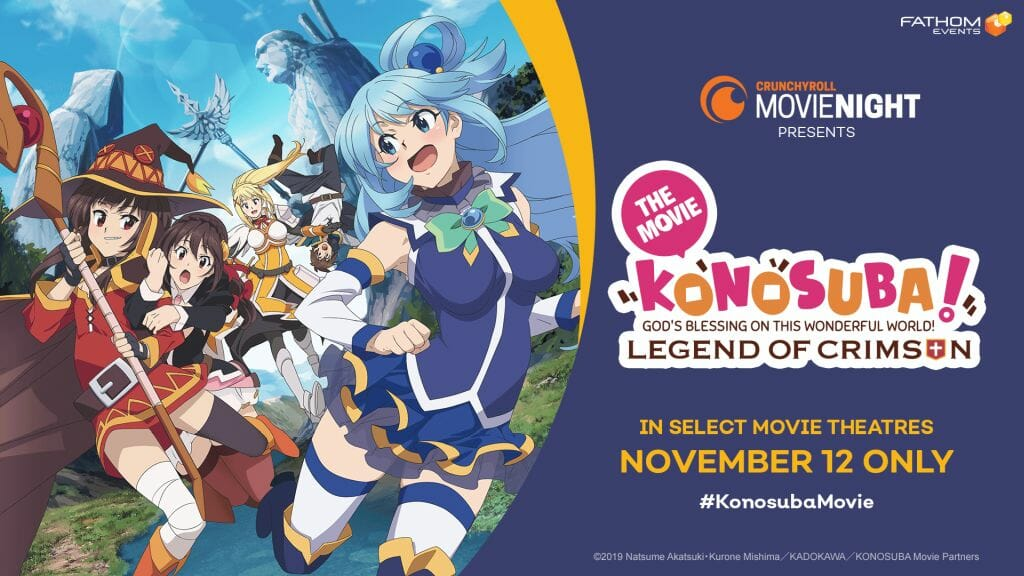 Crunchyroll To Give Konosuba: Legend of Crimson Theatrical Screening on 11/12/2019
