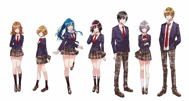Bottom-Tier Character Tomozaki Anime Cast Visual