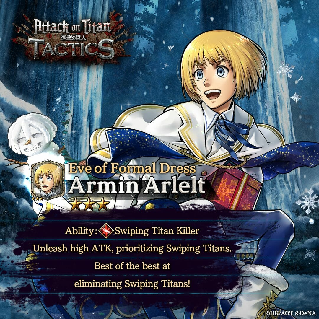 Attack on Titan Tactics - Eve of Formal Dress - Armin Visual