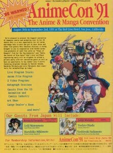 Promotional flyer for AnimeCon '91